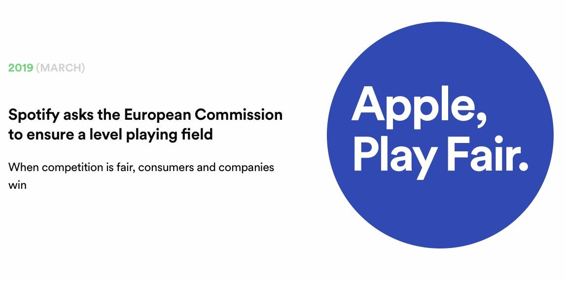 """Spotify fordert durch agressive Maßnahmena Apple auf """"fair"""" zu spielen."""